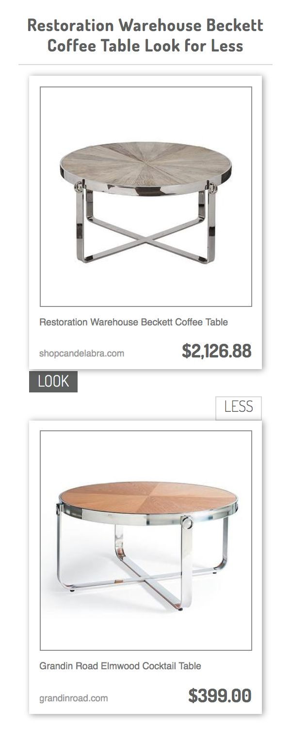 Restoration Warehouse Beckett Coffee Table Vs Grandin Road Elmwood Cocktail Table