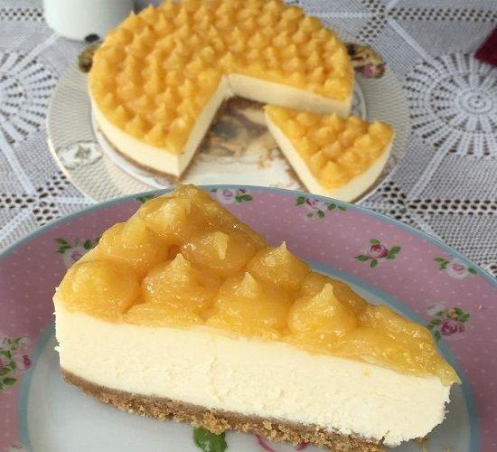 Limon Soslu Cheesecake Tarifi - Pratik Tatlı Tarifleri