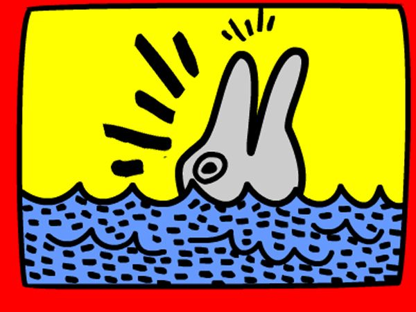 Create a work of art in the style of Keith Haring >>>>See blog<<<<<<