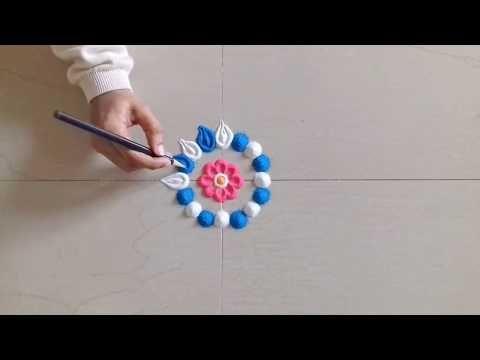 # Simple, Easy and Colorful Rangoli designs # Innovative Rangoli designs - YouTube
