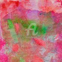 ORAGE VERT - Peinture,  20x20 cm ©2011 par Fabienne Martin -                            Art abstrait, orage vert, peinture moderne abstraite, tableau carre, carré, artiste en direct, achat peinture, peinture discount