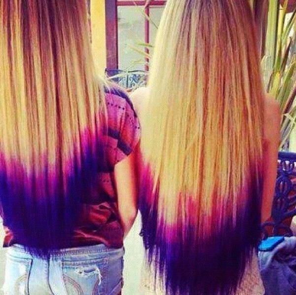 Purple Blue Dip Dye Hair It S On My Bucket List To Get
