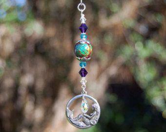 Swarovski cristal arco iris Suncatcher espejo retrovisor