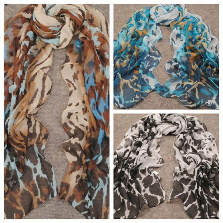 Lush leopard scarves, silky chiffon, stylish