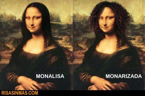 ¿Mona Lisa o Mona Rizada?  Descripción de pelo.