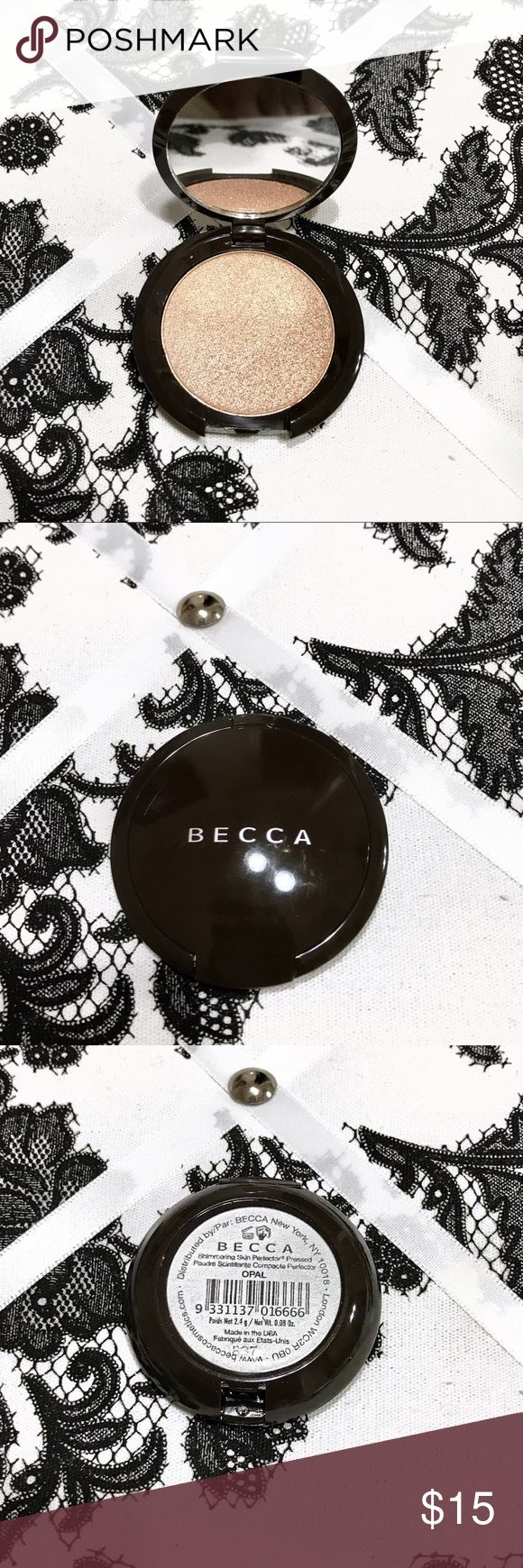 🔥PRICE DROP last call*MINI BECCA OPAL HIGHLIGHTER *PRICE FIRM BEFORE DELETING* Mini becca opal highlighter. Will last you forever cause a little goes a long way. Perfect for on the go & glow touch ups. Looks amazing on all skin tones. Never used no box Sephora Makeup Luminizer