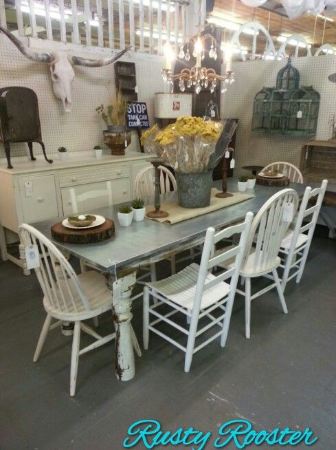 Perfect Industrial And Shabby Together For The Home · RoosterDining TableIndustrial Dining ...