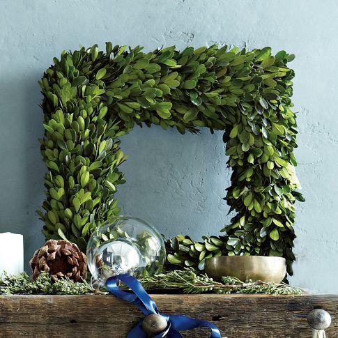 boxwood square wreath west elm decor pinterest to