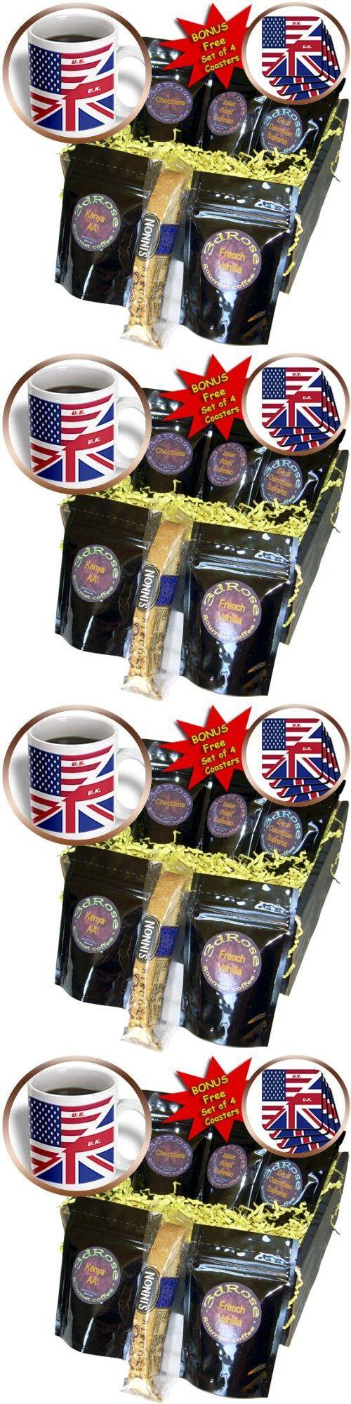 Florene Patriotic - US n UK Flags Joined - Coffee Gift Baskets - Coffee Gift Basket (cgb_45083_1)