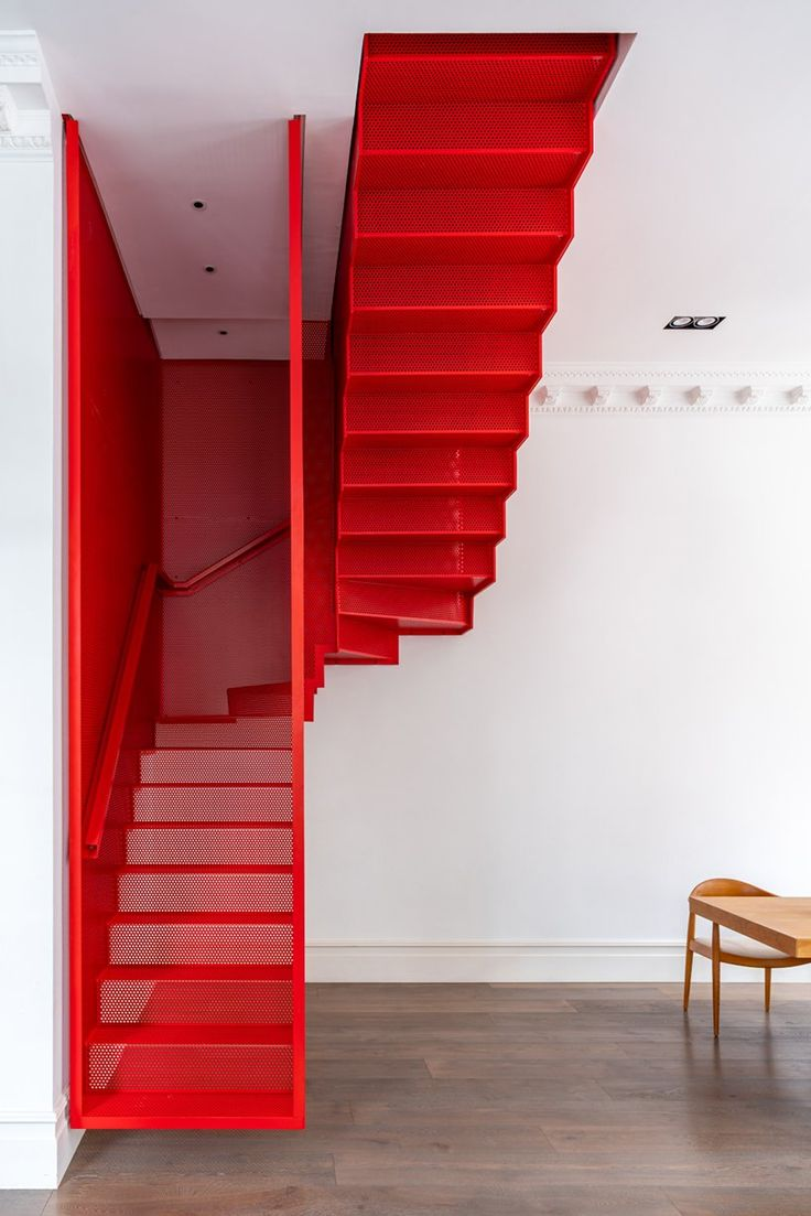 New Staircase, Modern Staircase, Staircase Design, Staircase Ideas, Staircases, Contemporary Design, Modern Design, His And Hers Sinks, Crittall