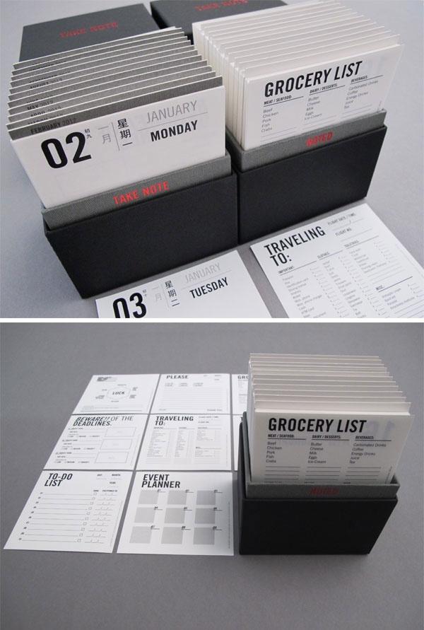 Originele kalender. Een format dat ook geschikt is om je duurzaamheidsverslag in onder te brengen.