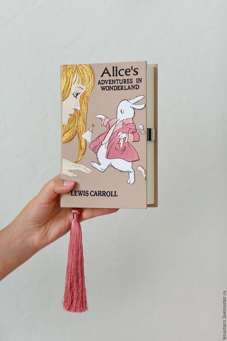 """Купить Клатч-книга """"Алиса в стране чудес"""" - рисунок, клатч, клатч в виде книги"""