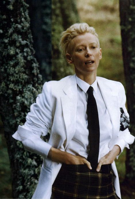 Tilda Swinton by Ryan McGinley, L'Uomo Vogue, February 2010.