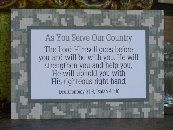 Military Service Deployment Care Package by abidingwordcreations, $9.00