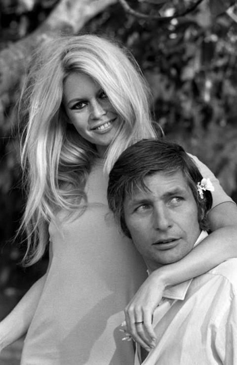 French film actress Brigitte #Bardot and husband Gunther Sachs.