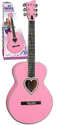 JJ Heart Pink Acoustic Guitar Kit From The Pink Superstore