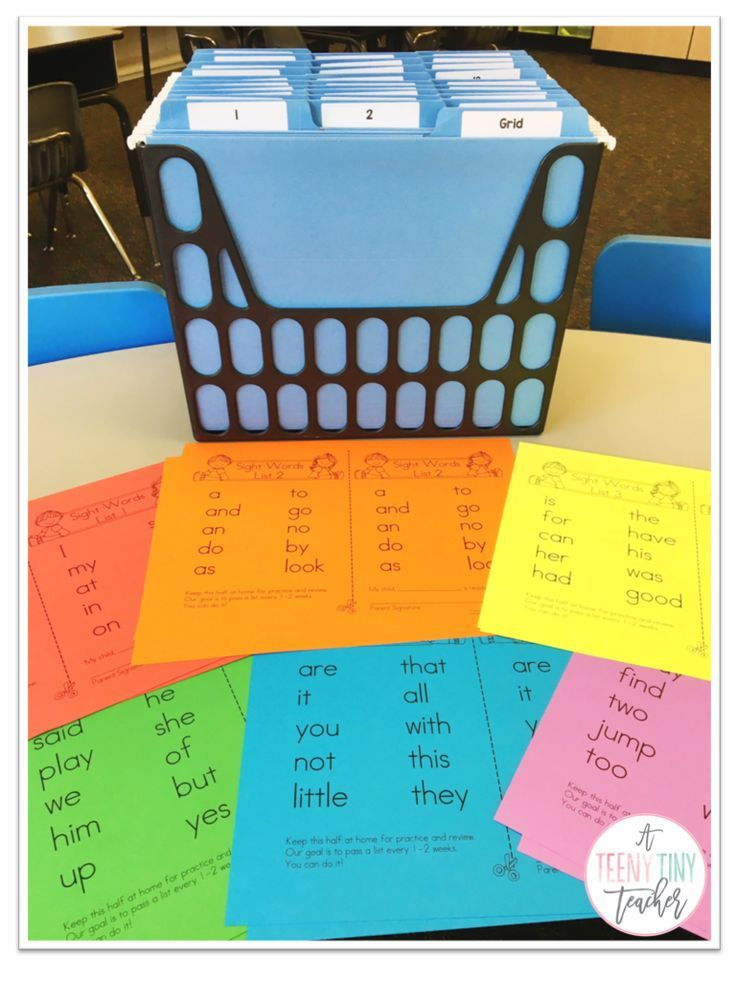 A Teeny Tiny Teacher - TAKE HOME sight word program.  Students work at their own pace AT HOME.