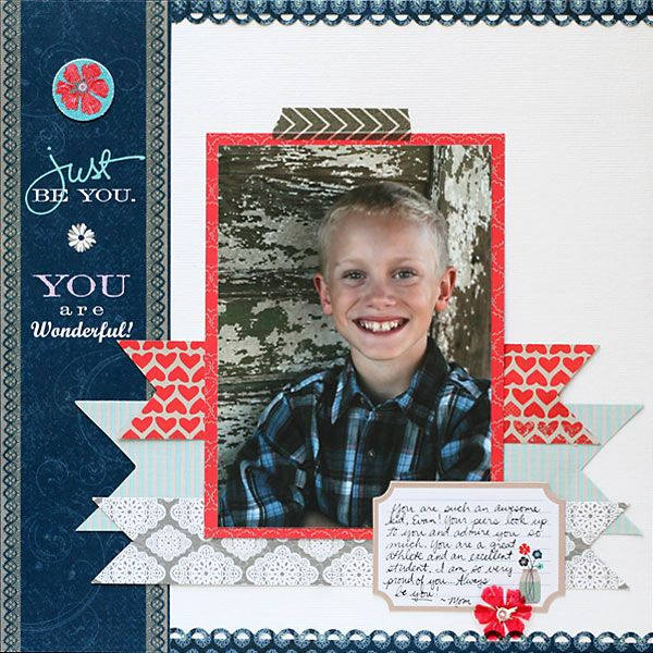 Little Yellow Bicycle Scrapbooking Layouts   Little Yellow Bicycle - Just Because Collection - 12 x 12 Double Sided ...