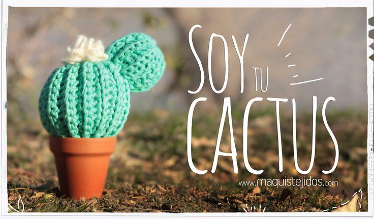 Cactus tejido crochet