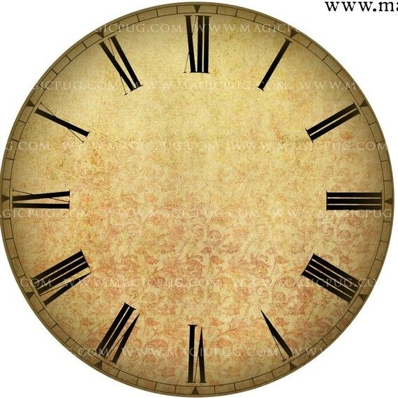 Altered Art Clock Face Digital Collage Sheet for mixed by magicpug, $4.00