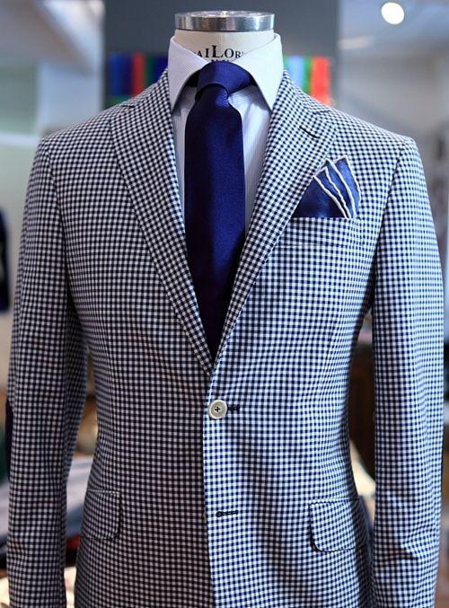 Damn, a gingham blazer. That's cool.