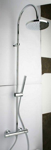 Neuesbad.de Duschsystem mit Aufputz-Brausethermostat und Regenbrause 200 mm