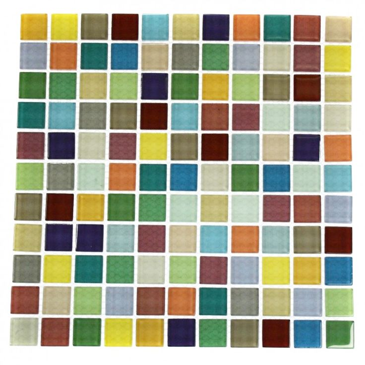 Fruit Platter 1X1 Multi-Colored Polished Glass Tile