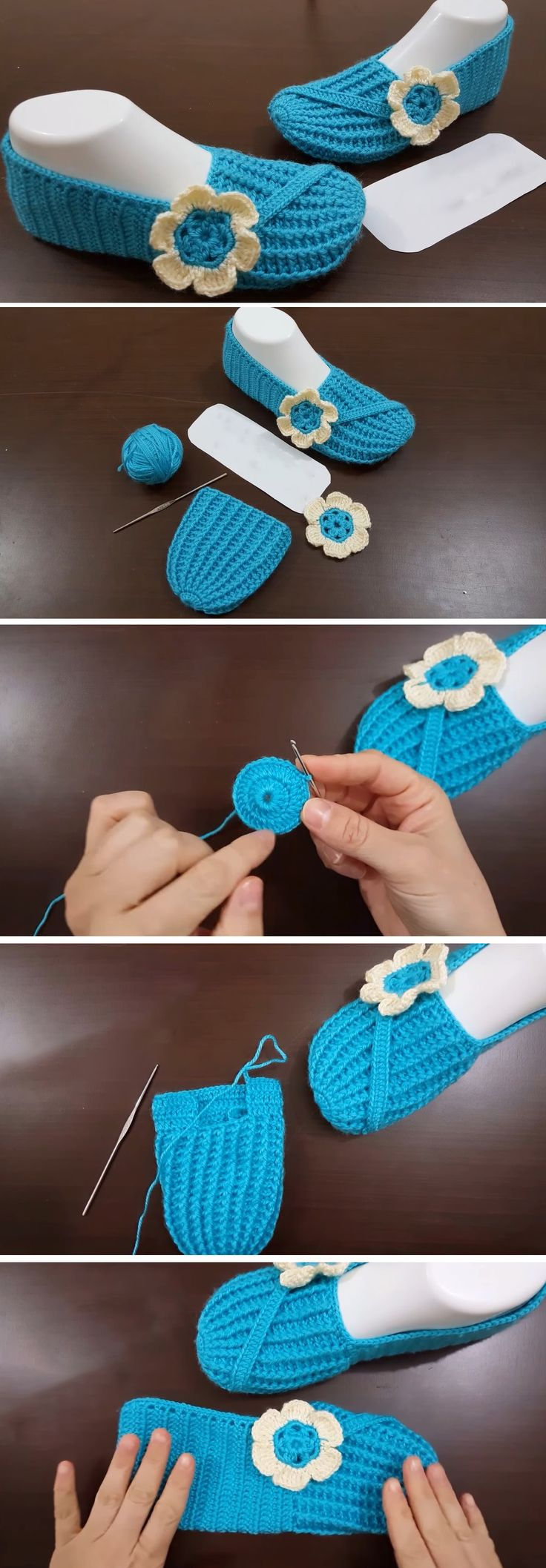 Another day another tutorial. Design-Peak presents a brand new slippers tutorial for our readers. Found online and embedded in this article, this tutorial is everything a slipper lover would love to see. The tutorial is complete, clear and understandable. The time needed in order to crochet this slipper is roughly an hour. These slippers are… Read More Beautiful Slippers Tutorial – Made in Blue
