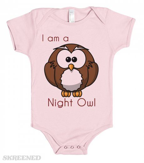 I am a Night Owl baby one piece t-shirt