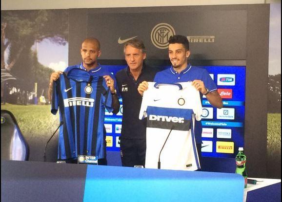 Inter: ecco Felipe Melo e Alex Telles, la presentazione ufficiale - http://www.maidirecalcio.com/2015/09/03/inter-ecco-felipe-melo-e-alex-telles-la-presentazione-ufficiale.html