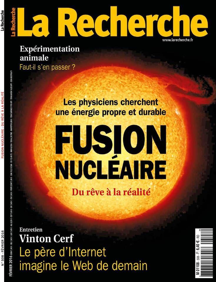 La Recherche 28 janvier 2016 n° 508. A la BU http://catalogue.univ-lille1.fr/F/?func=find-b&find_code=SYS&adjacent=N&local_base=LIL01&request=000208301