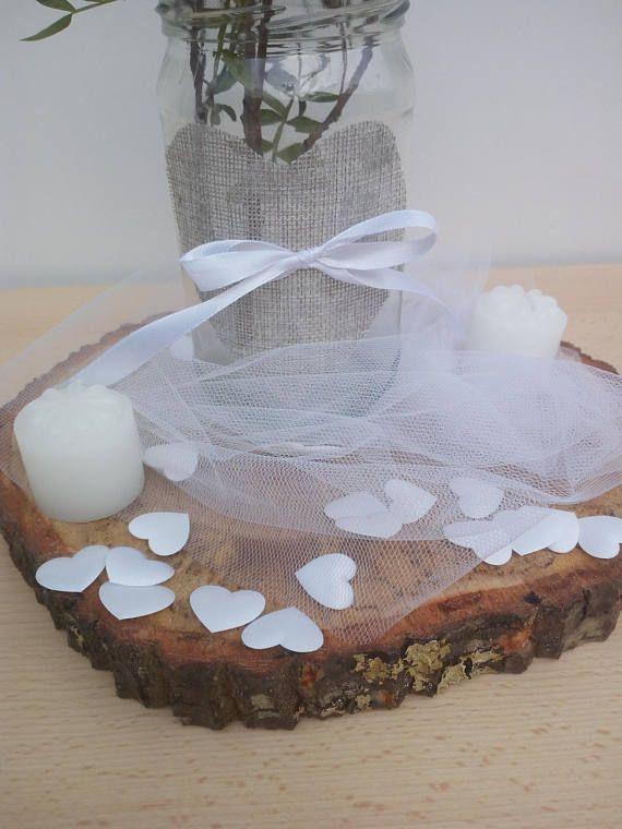 Fette di legno perfette per matrimonio rustico grande fetta di