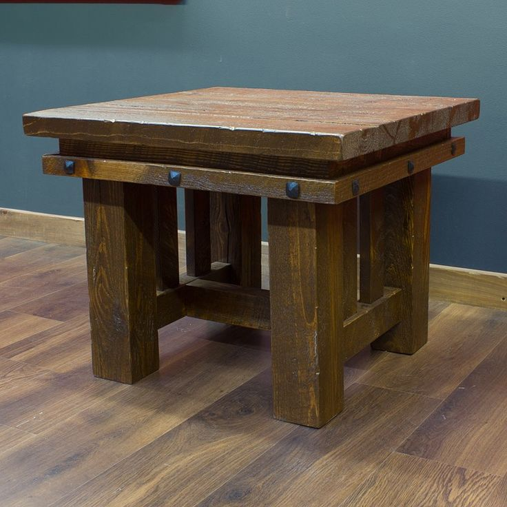 17 best images about rustic end tables on pinterest wood for Table western