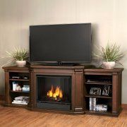 Real Flame Valmont Entertainment Center Ventless Gel Fireplace - Chestnut Oak