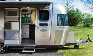 The Airstreams at Ca'Savio are modern models based on the original design. | near Venice, Italy