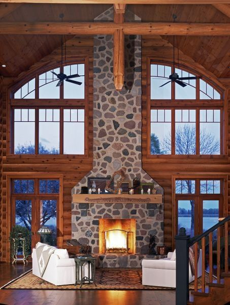 1000 images about my dream home living room on pinterest for Log cabin window