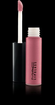 """MAC's tinted lipglass in """"angel""""  a light, warm pink."""