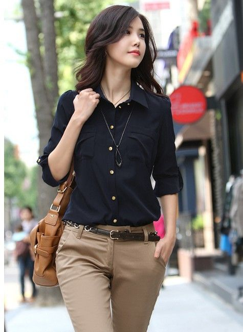 blusas de manga larga modernas - Buscar con Google