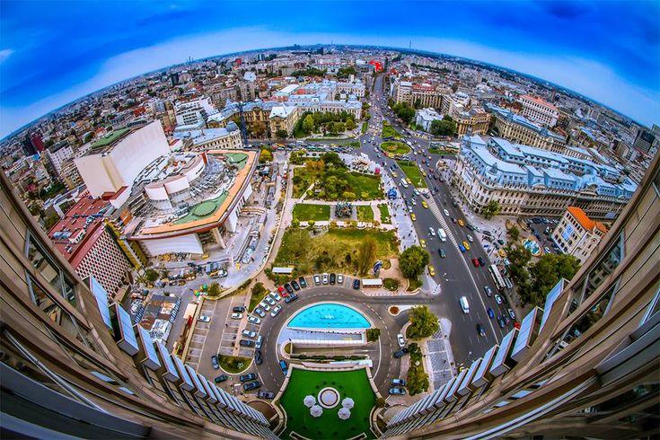 Superb pic taken from Intercontinental Hotel, Bucharest, Romania (photo by Dan Mihai Balanescu)