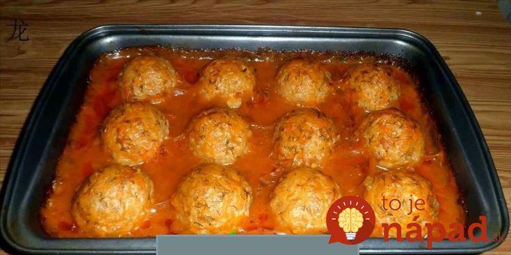 Výborný obed pre celú rodinu, na jednom plechu. Mäsové bomby sú úplne jednoduché na prípravu a veľmi dobré!