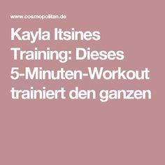 Kayla Itsines Training: Dieses 5-Minuten-Workout trainiert den ganzen