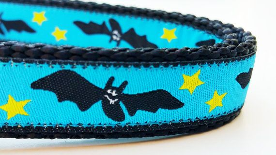 Bat Dog  Dog Collar / Adjustable / Handmade / by StinkyandSweetPea