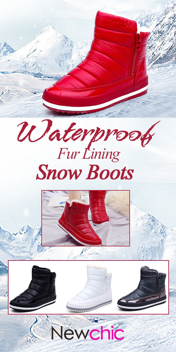 d89879a93154  US  31.21 M.GENERAL Waterproof Warm Pure Colour Fur Lining Short Snow Boots  For Women  winterboots  wintershoes  snowboots  ankleboots  warmboots