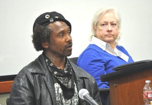 Laws allowing police to ticket and arrest homeless people for sleeping in a car, sitting on the sidewalk — or even leaving their bags on the sidewalk while they use a bathroom — are part of a larger strategy to criminalize homelessness and by extension, poverty, according to attorneys and advocates for homeless people at a conference at the UC Irvine School of Law. 4/1/13
