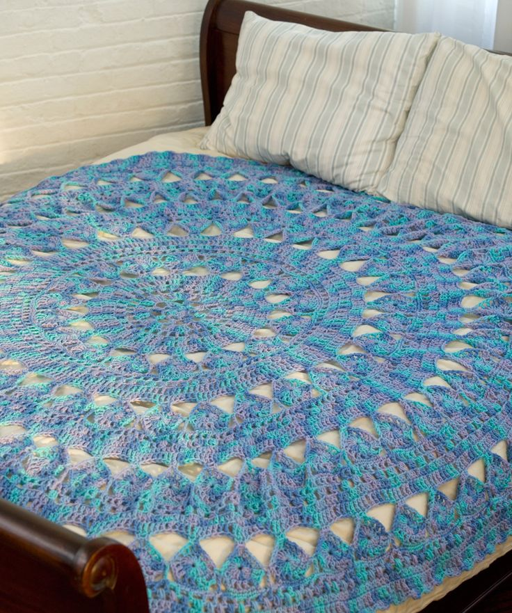 Medallion Circular Crochet Throw: free pattern