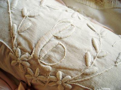 Antique monogrammed linen