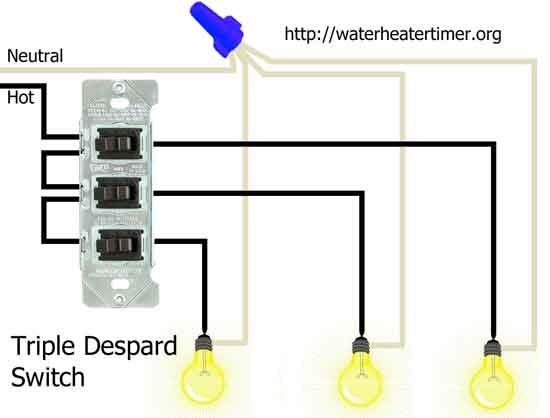 triple Despard switches | Sam albums | Wire switch, Wire, Electrical wiring diagram