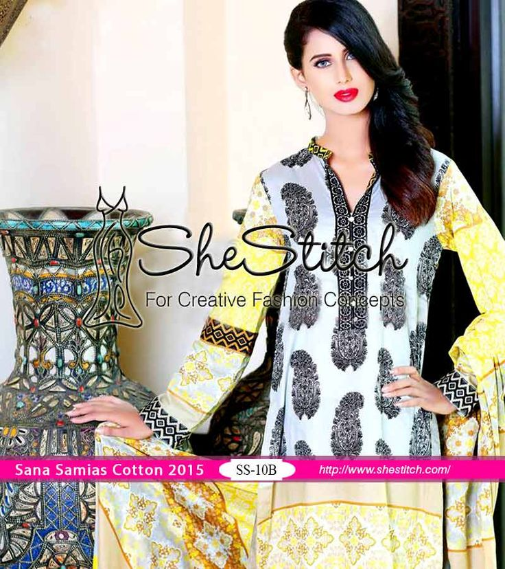 #Sanasamia presents cotton collection 2015. It caters women of all ages with supreme fabric quality and proper formal wear.This collection is consists of trendy dresses.