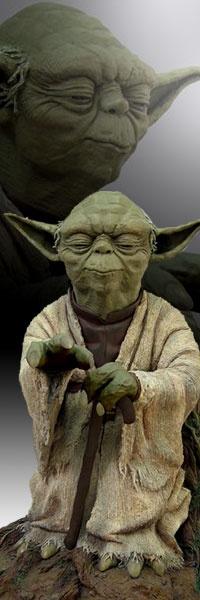 Yoda Using the Force Prestige Format Statue