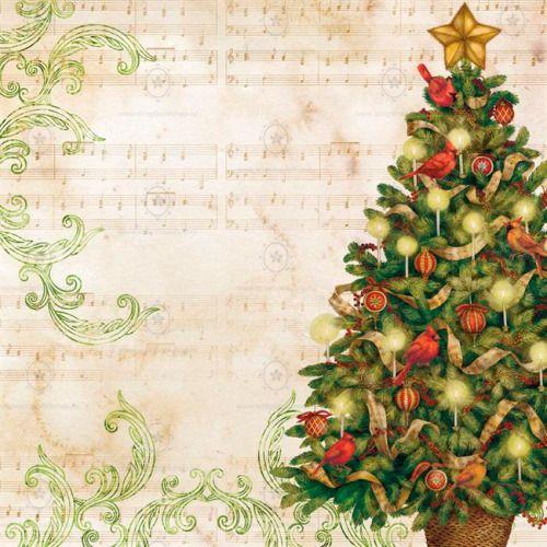 Односторонняя бумага для скрапбукинга 30х30 Рождественская елка, K&Company